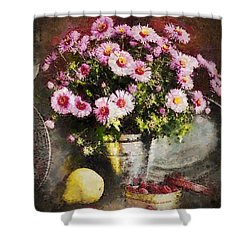 Can Of Raspberries Shower Curtain by Mo T