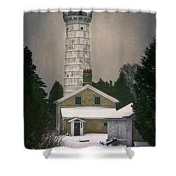 Cana Island Light II Shower Curtain by Joan Carroll