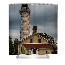 Cana Island Lighthouse By Paul Freidlund Shower Curtain