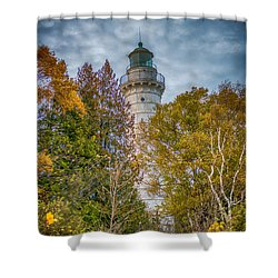 Cana Island Lighthouse II By Paul Freidlund Shower Curtain by Paul Freidlund