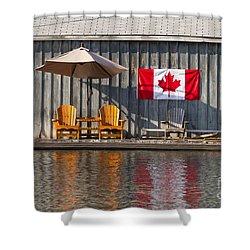 Canada Day In Muskoka Shower Curtain