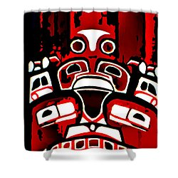 Canada - Inuit Village Totem Shower Curtain
