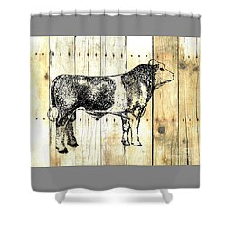 Shower Curtain featuring the drawing Canadian Champion 9 by Larry Campbell