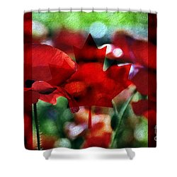 Canadian Eh Shower Curtain by Andrea Kollo
