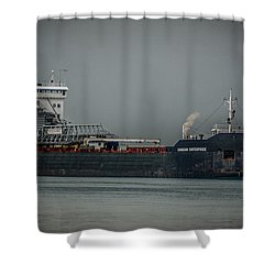 Canadian Enterprise Shower Curtain by Ronald Grogan