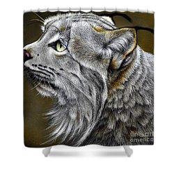 Canadian Lynx Shower Curtain by Jurek Zamoyski