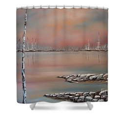 Canadian Northern Reflections Shower Curtain by Beverly Livingstone
