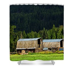 Canadian Twins Shower Curtain by Kathleen Bishop