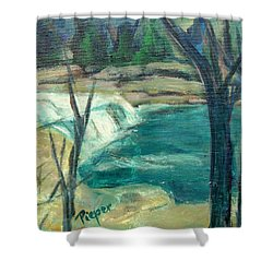 Shower Curtain featuring the painting Canajoharie Creek Near Village by Betty Pieper