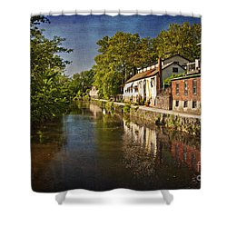 Canal Along The Porkyard Shower Curtain