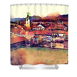Canal At Thurgau Shower Curtain by Susan Maxwell Schmidt
