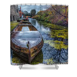 Canal Boat Shower Curtain by Adrian Evans