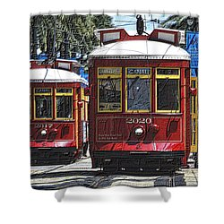 Canal St Cable Cars Shower Curtain
