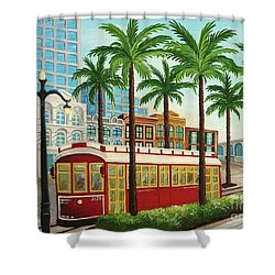 Canal Street Car Line I I Shower Curtain