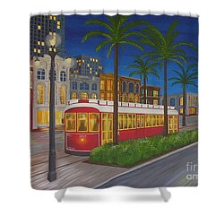 Canal Street Car Line Shower Curtain