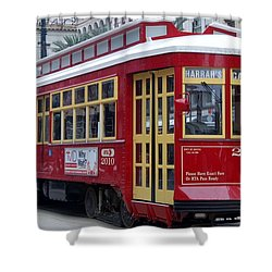 Canal Streetcar Nola Shower Curtain