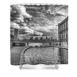 Shower Curtain featuring the photograph Canal Walk by Howard Salmon