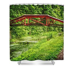 Canal Bridge Shower Curtain