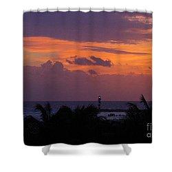 Cancun Lighthouse Shower Curtain by Halifax photographer John Malone