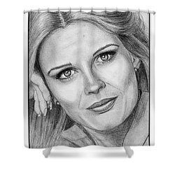 Candace Bergen In 1976 Shower Curtain by J McCombie