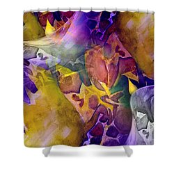 Shower Curtain featuring the painting Candle Flower by Allison Ashton