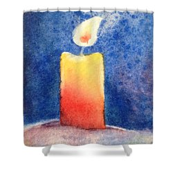 Candle Glow Shower Curtain by Marilyn Jacobson