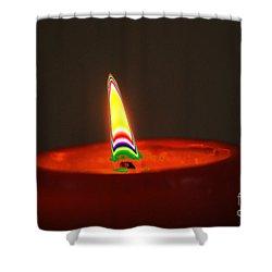 Candle Light Shower Curtain by Carol Lynch