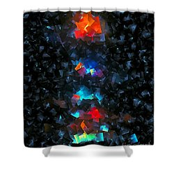 Shower Curtain featuring the digital art Candle Light by Greg Moores