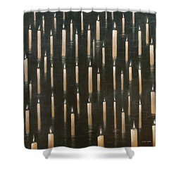 Candles On The Lake Udaipur India Shower Curtain by Lincoln Seligman
