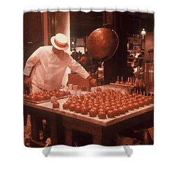 Shower Curtain featuring the photograph Candy Apple Man by Rodney Lee Williams