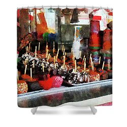 Candy Apples Shower Curtain by Susan Savad