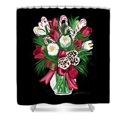 Candy Cane Bouquet Shower Curtain by Jean Pacheco Ravinski