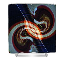 Candy Cane Swirl Shower Curtain by Michael Kegg