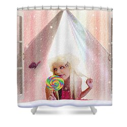 Shower Curtain featuring the digital art Candy Kisses by Liane Wright