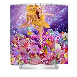 Candy Sugarplum Fairy Shower Curtain by Alixandra Mullins