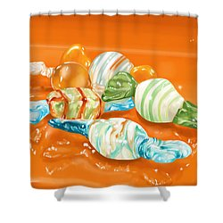 Candy Shower Curtain by Veronica Minozzi