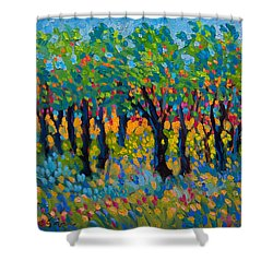 Candy Wood Shower Curtain