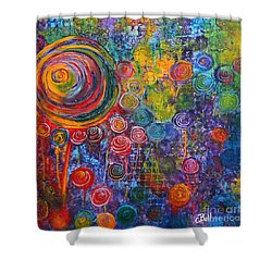 Candyland Shower Curtain by Claire Bull