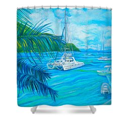 Cane Garden Bay Shower Curtain