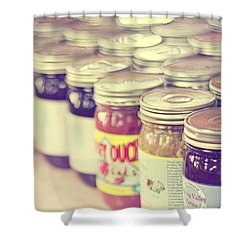 Canned Shower Curtain by Amy Tyler
