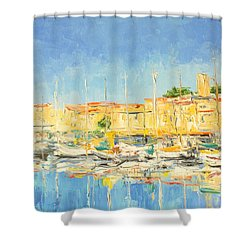 Cannes Harbour Shower Curtain