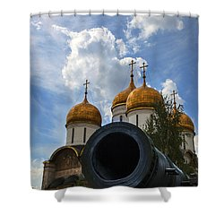 Cannon And Cathedral  - Russia Shower Curtain