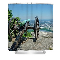 Cannon At Point Park Shower Curtain