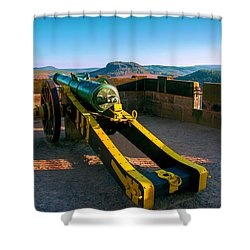 Cannon At The Fortress Koenigstein Shower Curtain