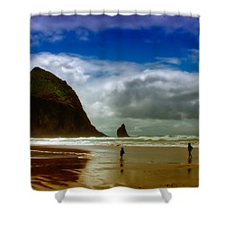 Cannon Beach At Dusk II Shower Curtain by David Patterson