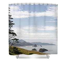 Cannon Beach At Ecola State Park Shower Curtain by David Gn