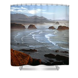 Cannon Beach At Sunset Shower Curtain