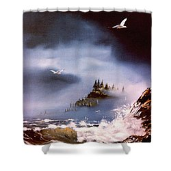Cannon Beach Oregon Shower Curtain by Craig T Burgwardt