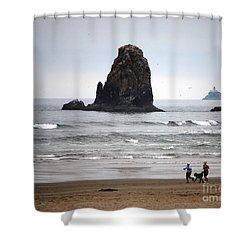Cannon Beach Run Shower Curtain