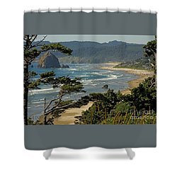 Shower Curtain featuring the photograph Cannon Beach Seascape by Nick  Boren